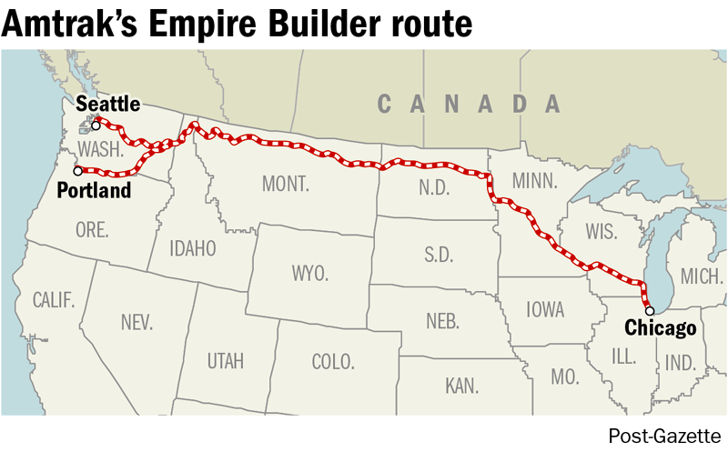 """Looking to take a longdistance trip? The """"Empire Builder"""