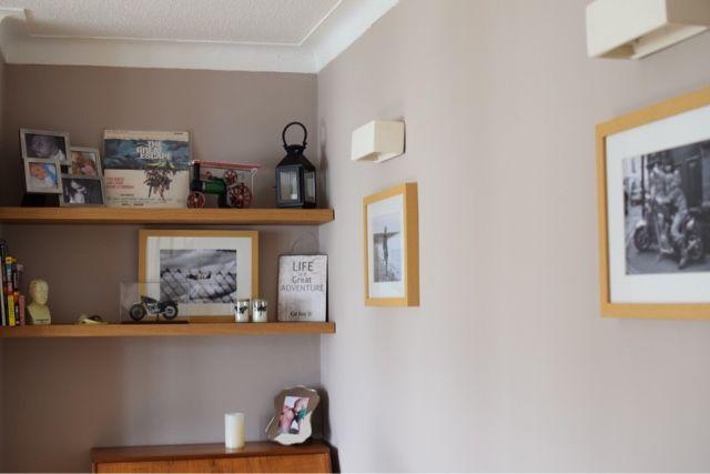 Living Room Makeover Little House Lovely Floating Shelves From Unique Floating Shelves BQ