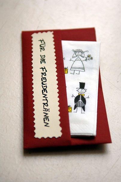 Details Zu Taschentucher Freudentranen Hochzeit Bastelanleitung