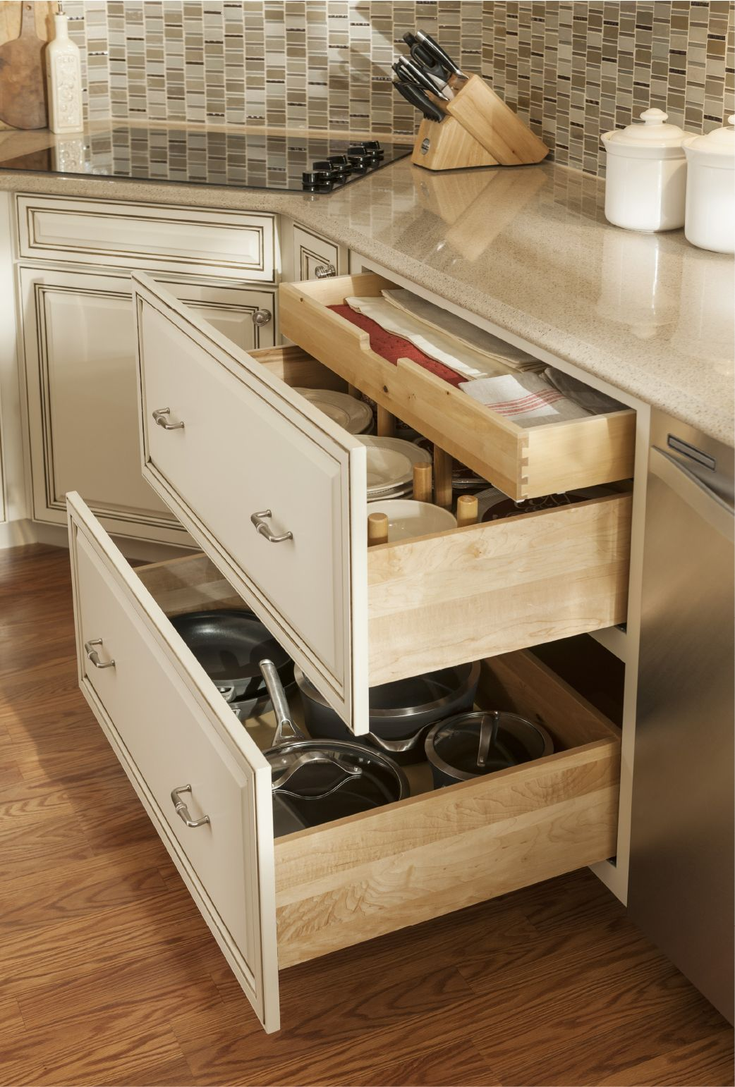 Two Drawer Base With Scalloped Tray Design By Allen Roth Kitchen Design Kitchen And Bath Design Kitchen Layout