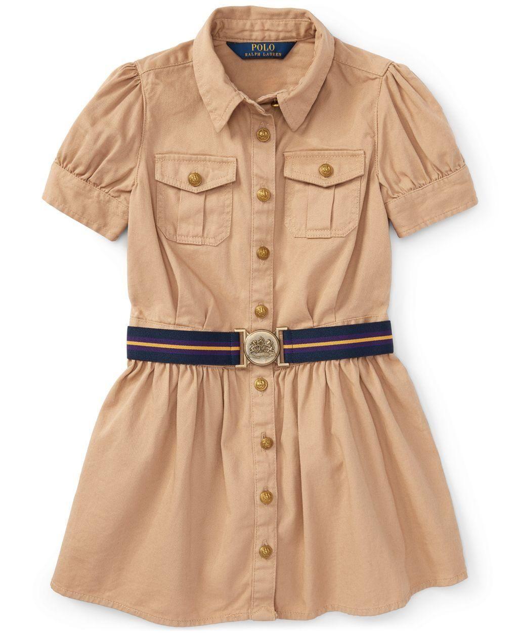 Ralph Lauren Girls' Chino Shirtdress - Brought to you by Avarsha.com