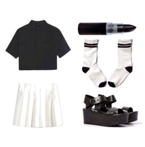 undead tennis match: top | skirt | lipstick | socks | shoes  pastel goth nu goth health goth punk goth fachin coord bh bella persunmall