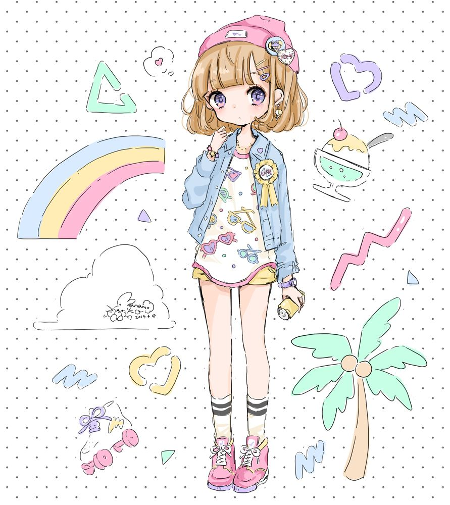 summer girl | kawaii *w* | pinterest | 女の子、かわいいイラスト
