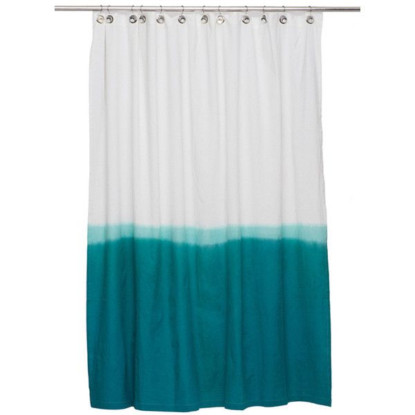 Dip Dye Shower Curtain In Teal Design By IGH 92 CAD Liked On Polyvore Featuring Home Bed Bath Curtains Cotton