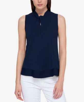TOMMY HILFIGER Tommy Hilfiger Sleeveless Twist-Detail Sweater, Only At Macy'S. #tommyhilfiger #cloth # sweaters