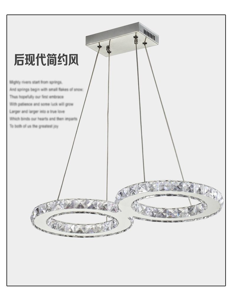 Modern dimmer Crystal LED Art form Chandelier Fixture Crystal Light ...