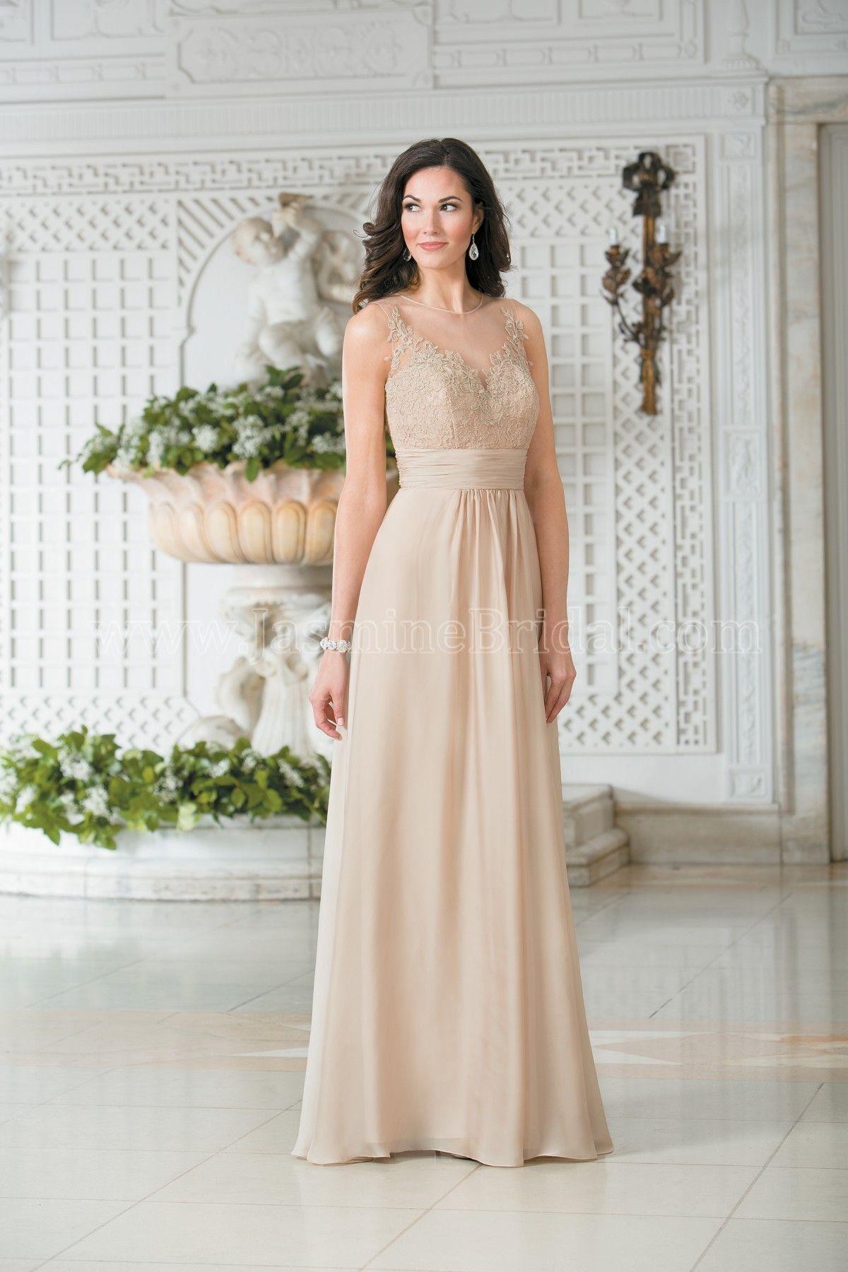Jasmine wedding dresses  Jasmine Bridal  Belsoie Style L in LaceAmber Satin Chiffon
