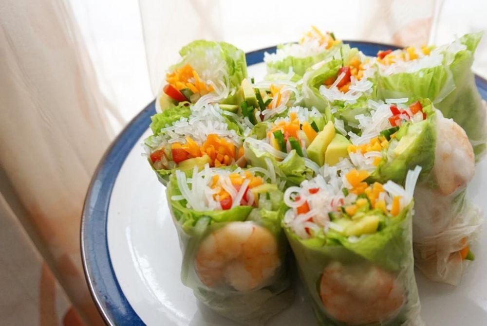 Resep Membuat Vietnam Salad Spring Roll C 2020 Brilio Net Roti Gulung Resep Salad Resep Masakan