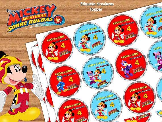 Kit Imprimible Mickey Aventuras Sobre Ruedas Cumpleaños De