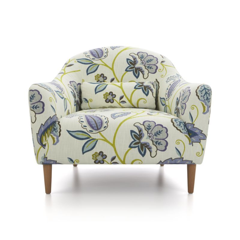 Pretty Fabric Pennie Chair Crate And Barrel Family