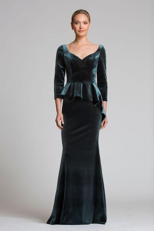 Velvet Peplum Gown  c96395712a94