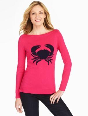 Textured Crab Sweater - Talbots   Talbots   Pinterest   Talbots