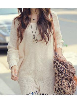 Batwing Long Sleeved Sweater Dress