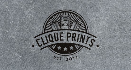 Clique Prints logo  / repinned on Toby Designs