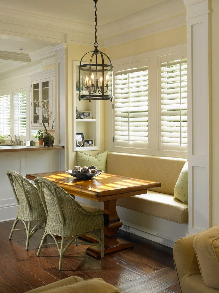 Gorgeous Built In Kitchen Bench Image Decor in Dining Room
