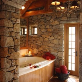 Cozy. I like the stone and wood craftsman style look.