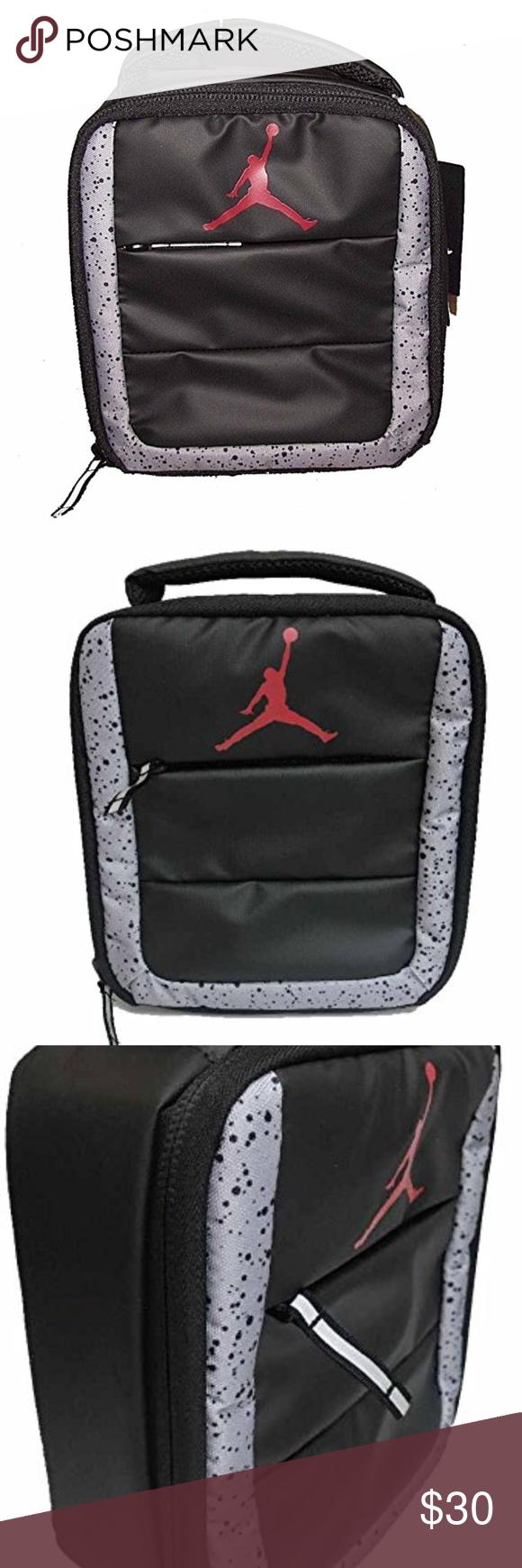 ce794df8edaea9 Jordan Lunch Box Tote Bag Nike Air Jordan insulated lunch tote. Jumpman  logo on front