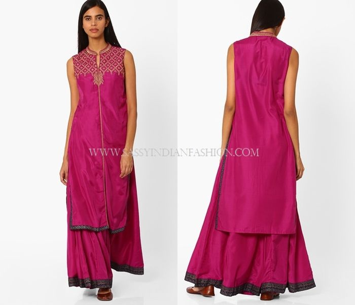 d913be388a2ca9 How To Wear Palazzo Pants With Kurta?   Palazzo Designs   Palazzo ...