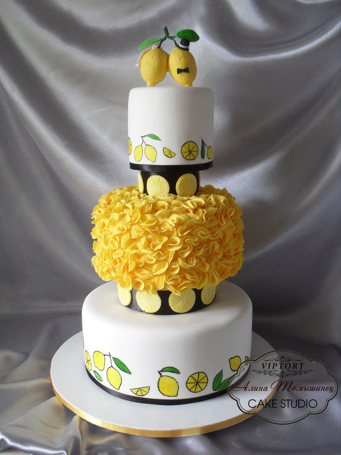 Wedding Cake, lemon yellow | Cakes Beautiful Cakes for the Occasions ...