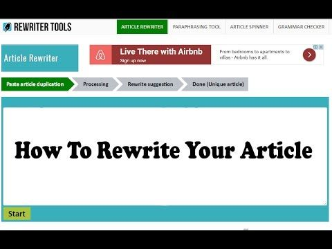 100 Free Article Rewriter Tool Best Seo Online Service Tools Professional Paraphrasing