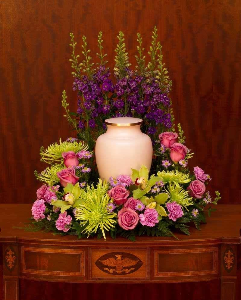 Peaceful Garden Funeral Flowers Funeral Urns Flower Arrangements