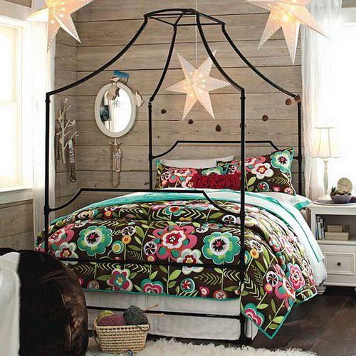Black And White Loft Bedroom Bedroom Decorating Ideas Diy Paint Colors For Bedroom Bedroom Curtains Kmart: Teens Room, Like The Star Lights.