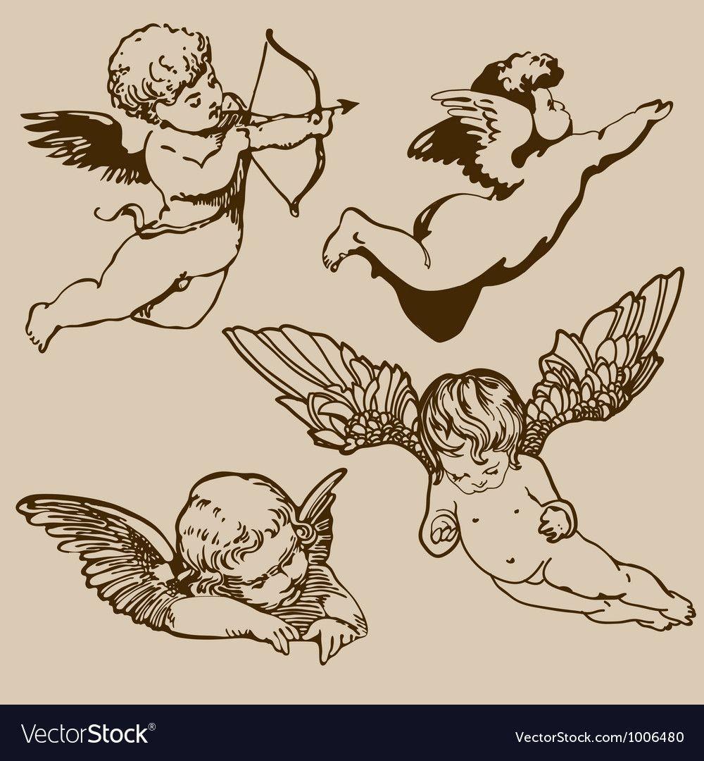 Angels vector image on VectorStock