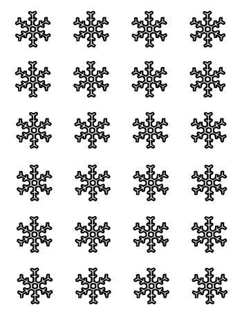 More Sprinkles for Me...: Template for white chocolate snowflakes ...