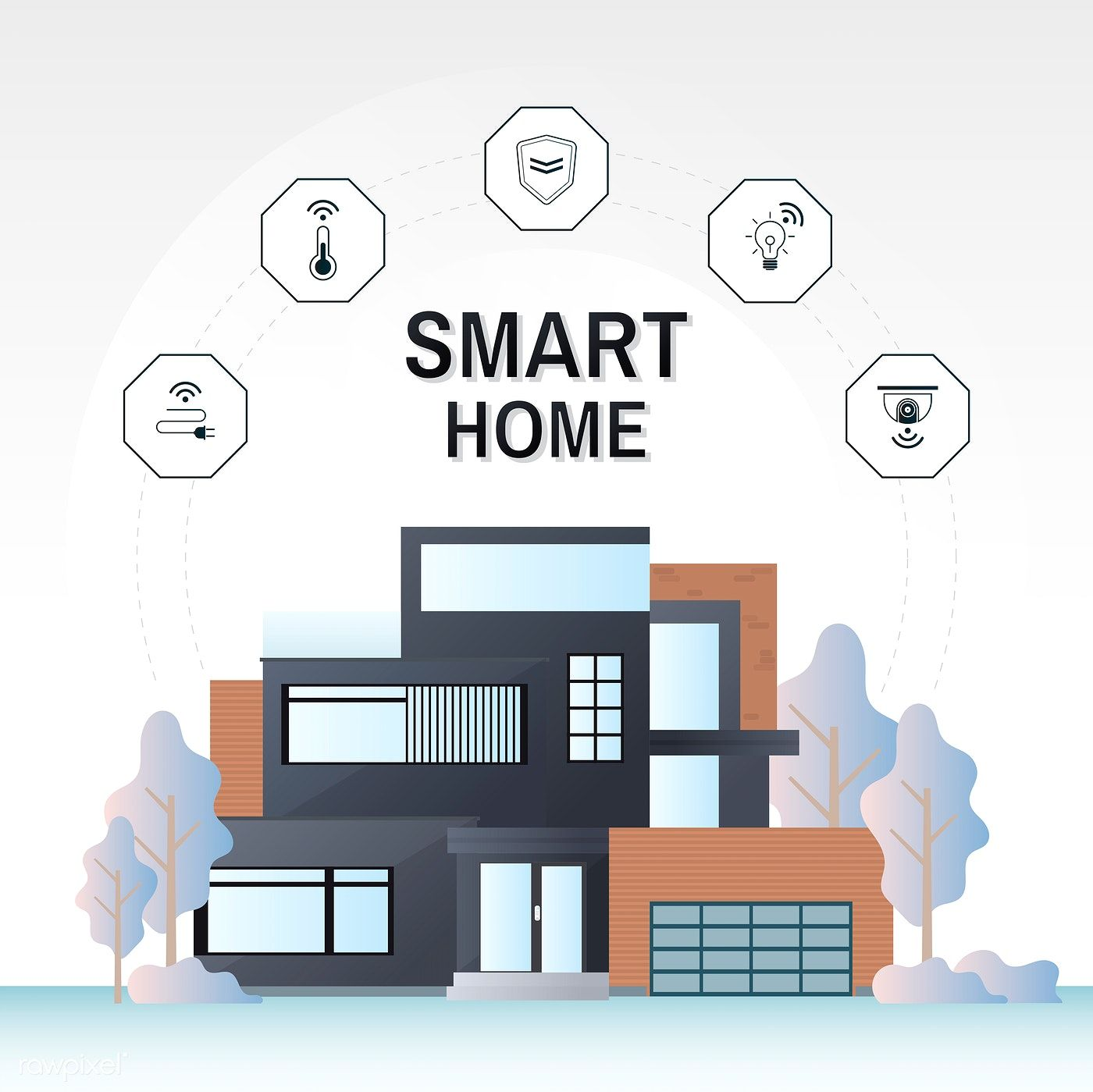 Smart Home Technology Infographic Vector Free Image By Rawpixel