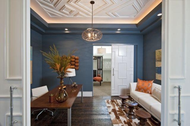 indirekte beleuchtung wohnzimmer home office decke stuckleisten - beleuchtung für wohnzimmer