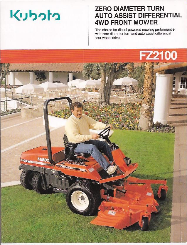 Kubota Fz2100 Front Mower I Never Owned One Of These But It Was On My Short List For Years 4 Wheel Drive Zero Turn The Front Mower Kubota Four Wheel Drive
