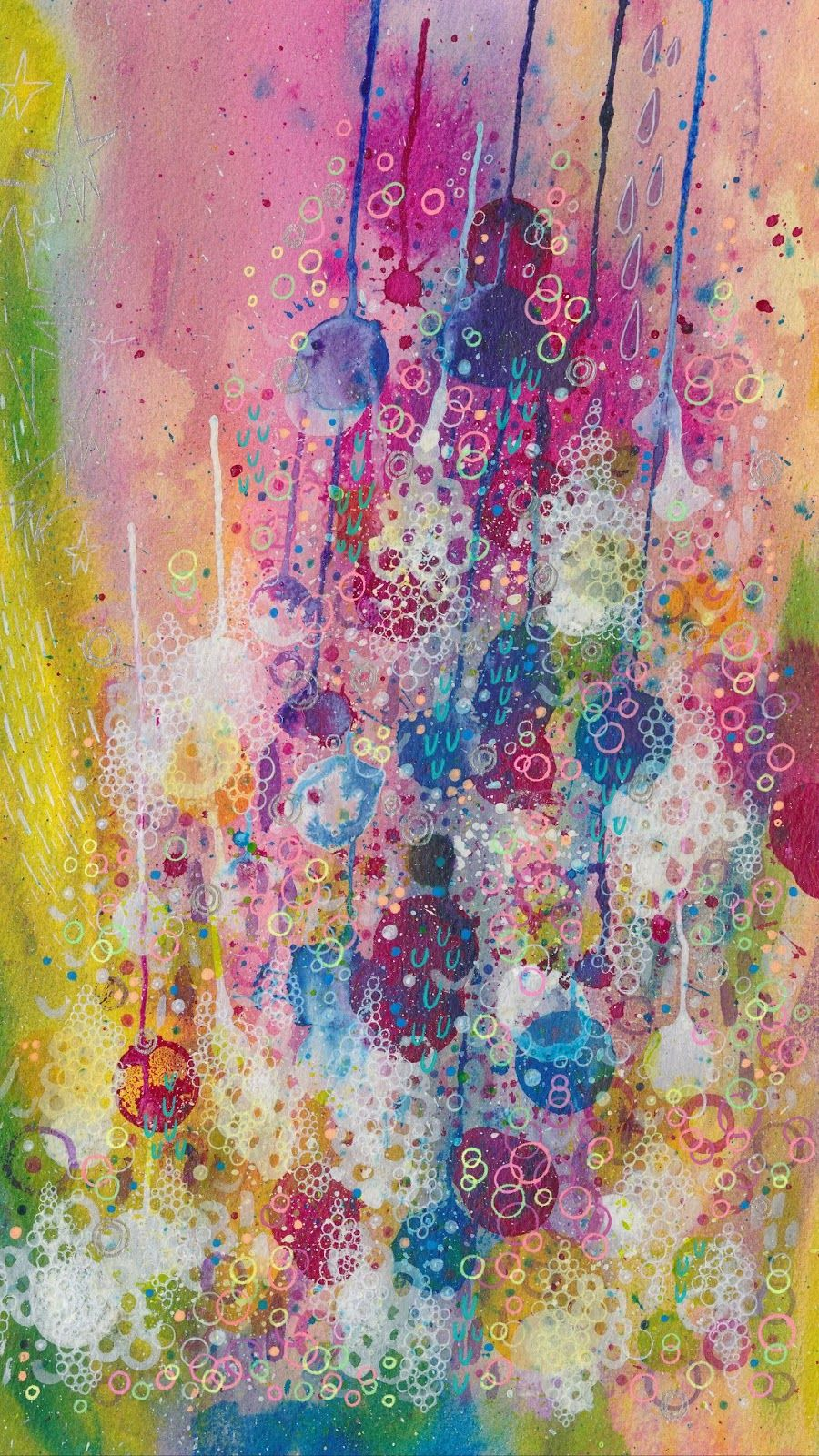 Abstract Multicolored Id 46081 Watercolor Wallpaper Iphone