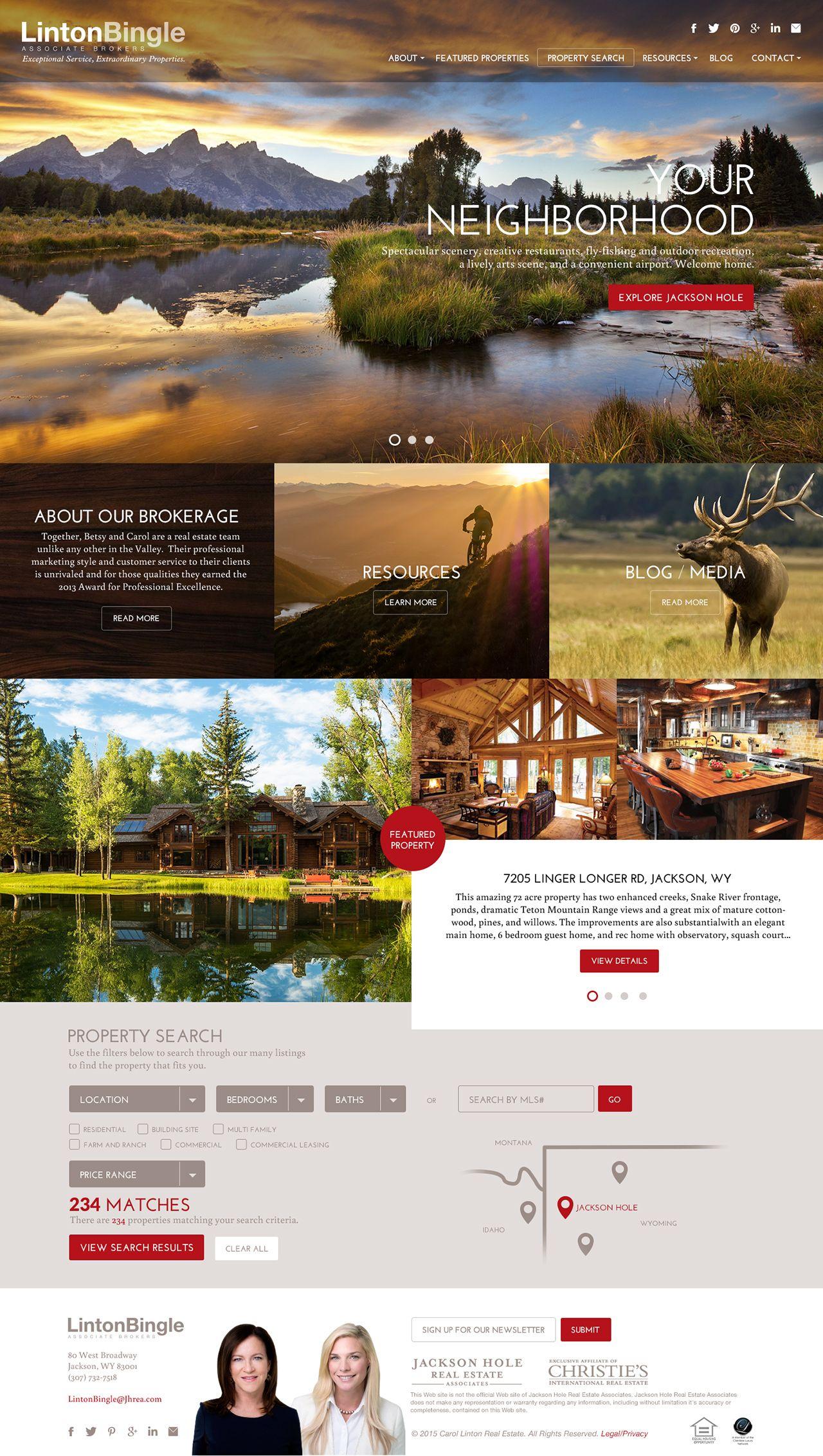 Linton Bingle Tmbr Jackson Wyoming Jackson Wyoming Beautiful Website Design Linton