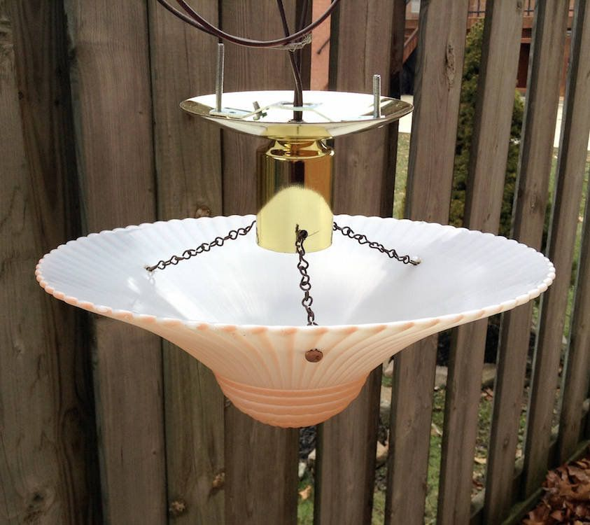 Three Chain Light Glass Globe 1940 S Art Deco Semi Etsy Glass Light Shades Semi Flush Lighting Glass Ceiling Lights