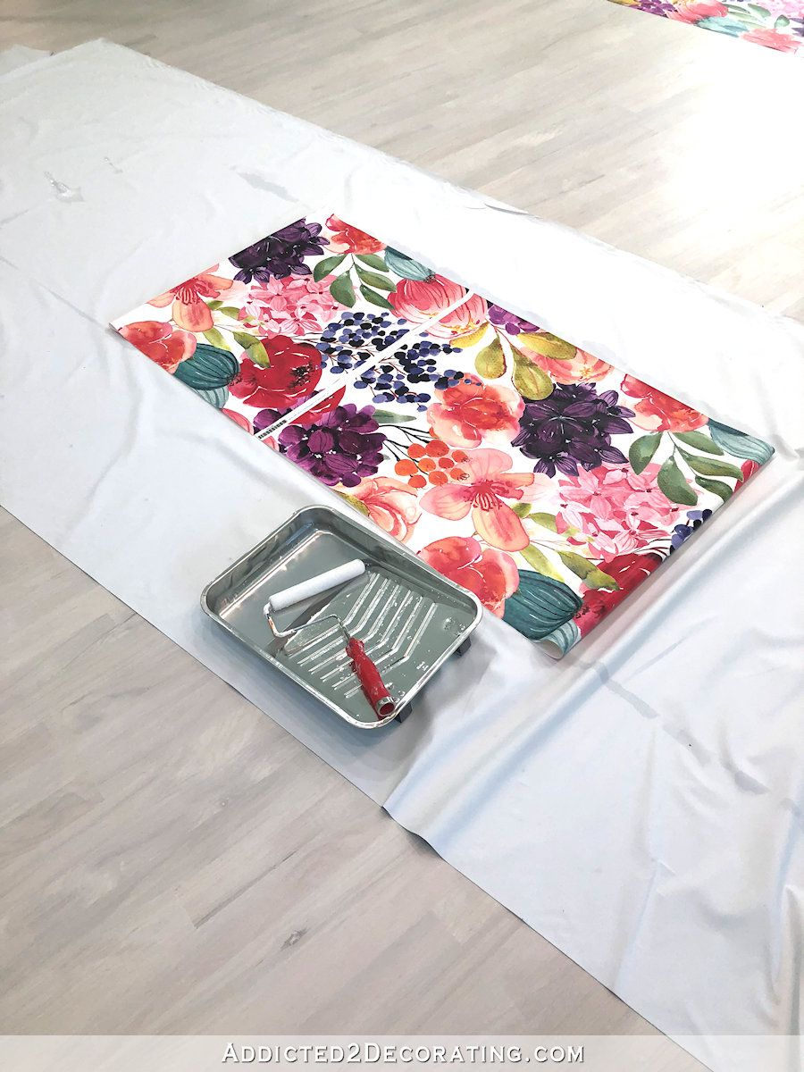 Tips For Installing Spoonflower Wallpaper - Addicted 2 Decorating®