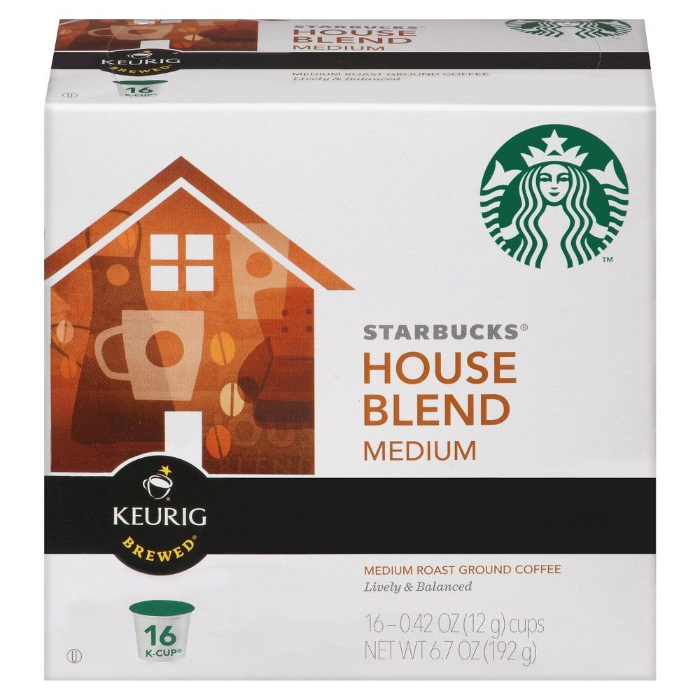 Starbucks House Blend Coffee KCup pods 16ct Coffee k