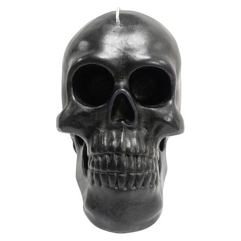 Halloween Bleeding Black Skull Candle - Hyde and Eek! Boutique