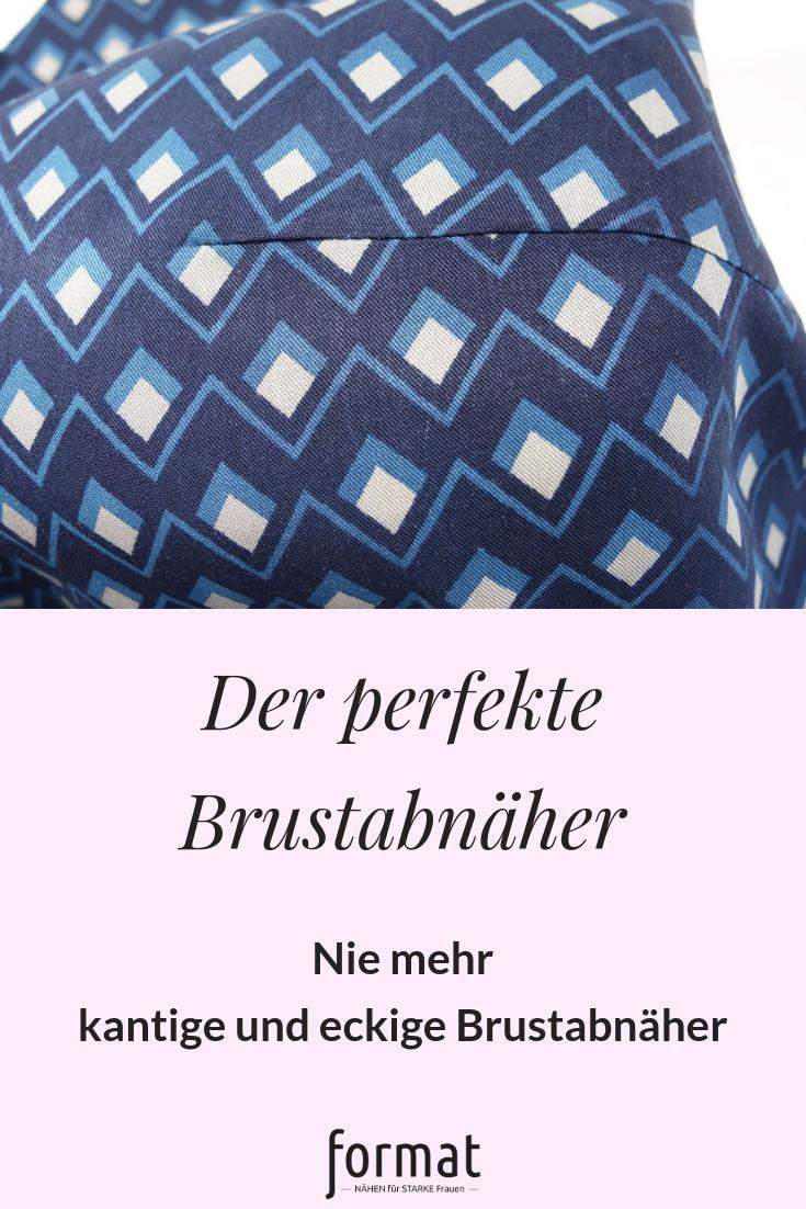 Einen perfekten Brustabnäher nähen und bügeln - mit diesen Tipps funktioniert es ganz einfach. #formatnaehen #formatbyfarbenmix #plussizenähen #nähen #sewinglessons