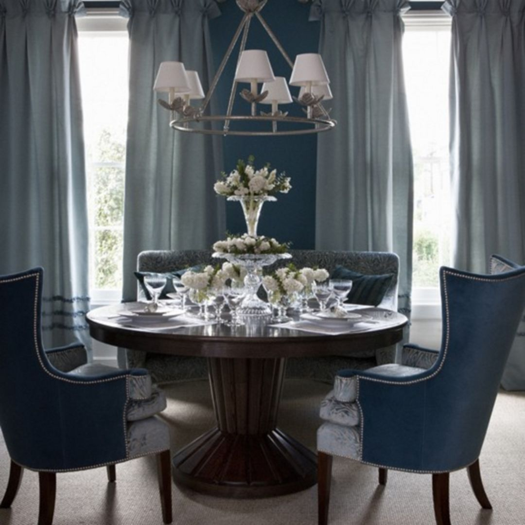 30 Chic Blue Christmas Dining Room Ideas For Inspiration  Room Interesting Blue Dining Room Ideas Decorating Design