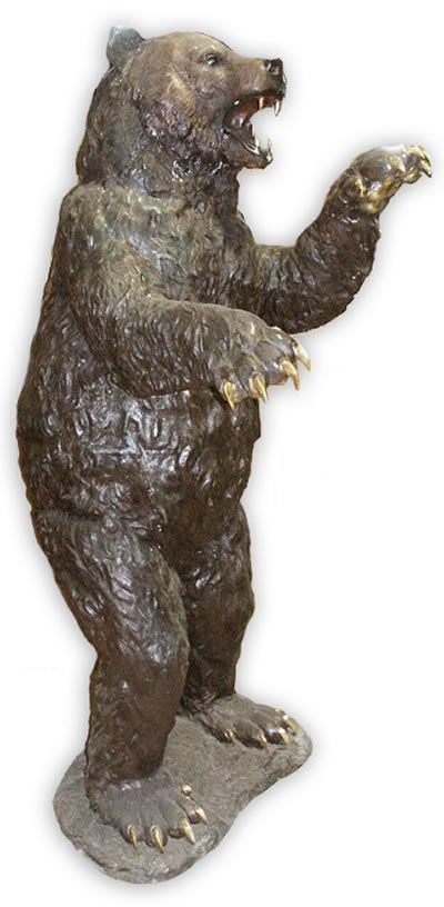 Life Size Standing Bear Bronze Sculpture Suitable For