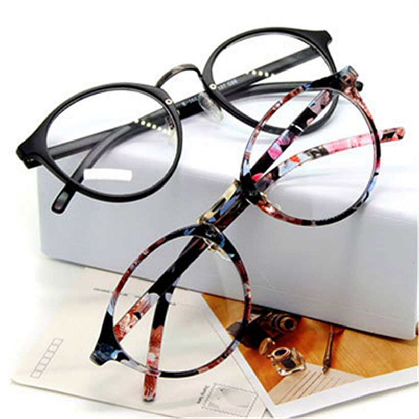 Vidrios ópticos marco de anteojos con cristal claro miopía marcos ...