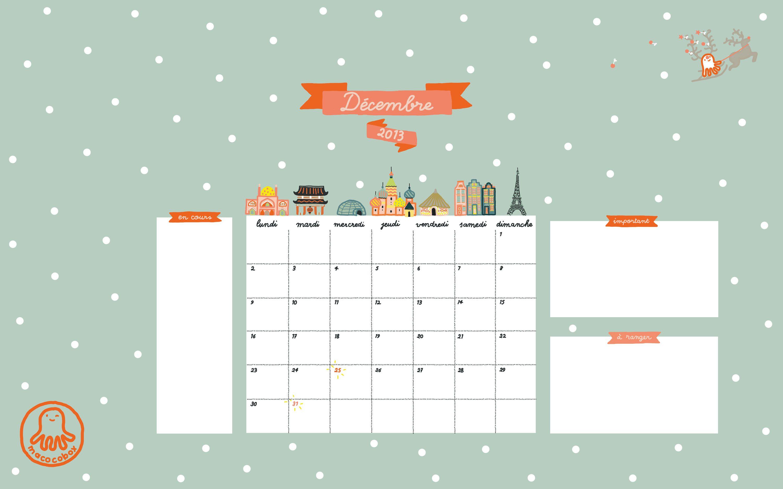 www.macocobox.com / december calendar screensaver / fond d\'écran ...