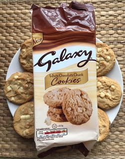 Galaxy White Chocolate Cookies Review Kevs Snack Reviews