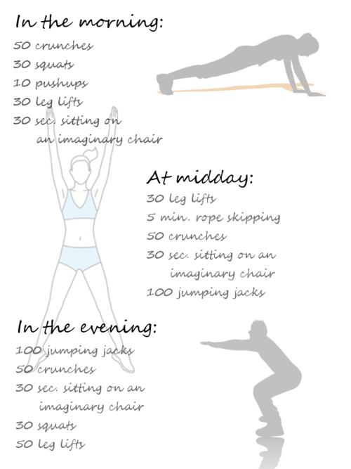 Do This Routine Before Every Shower 50 Jumping Jacks 5 Pushups 20 Crunches 20 Mountain Climbers And 30 Second Daily Workout Best Beginner Workout Exercise