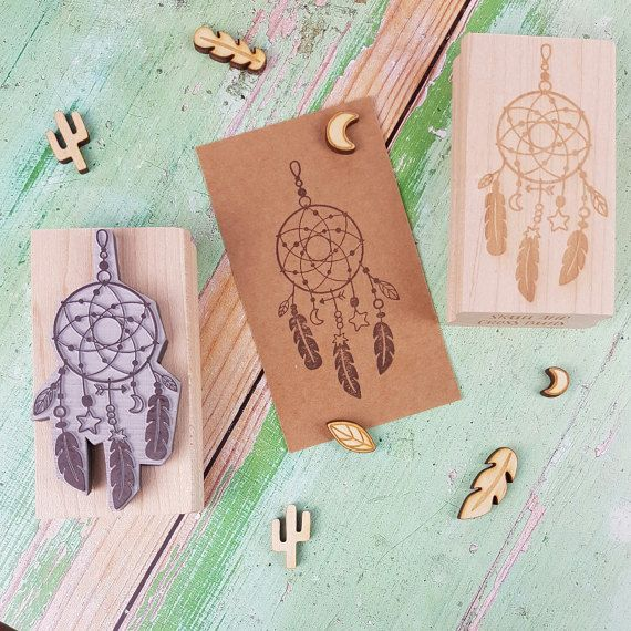 Dreamcatcher Rubber Stamp  by Skull and Cross Buns