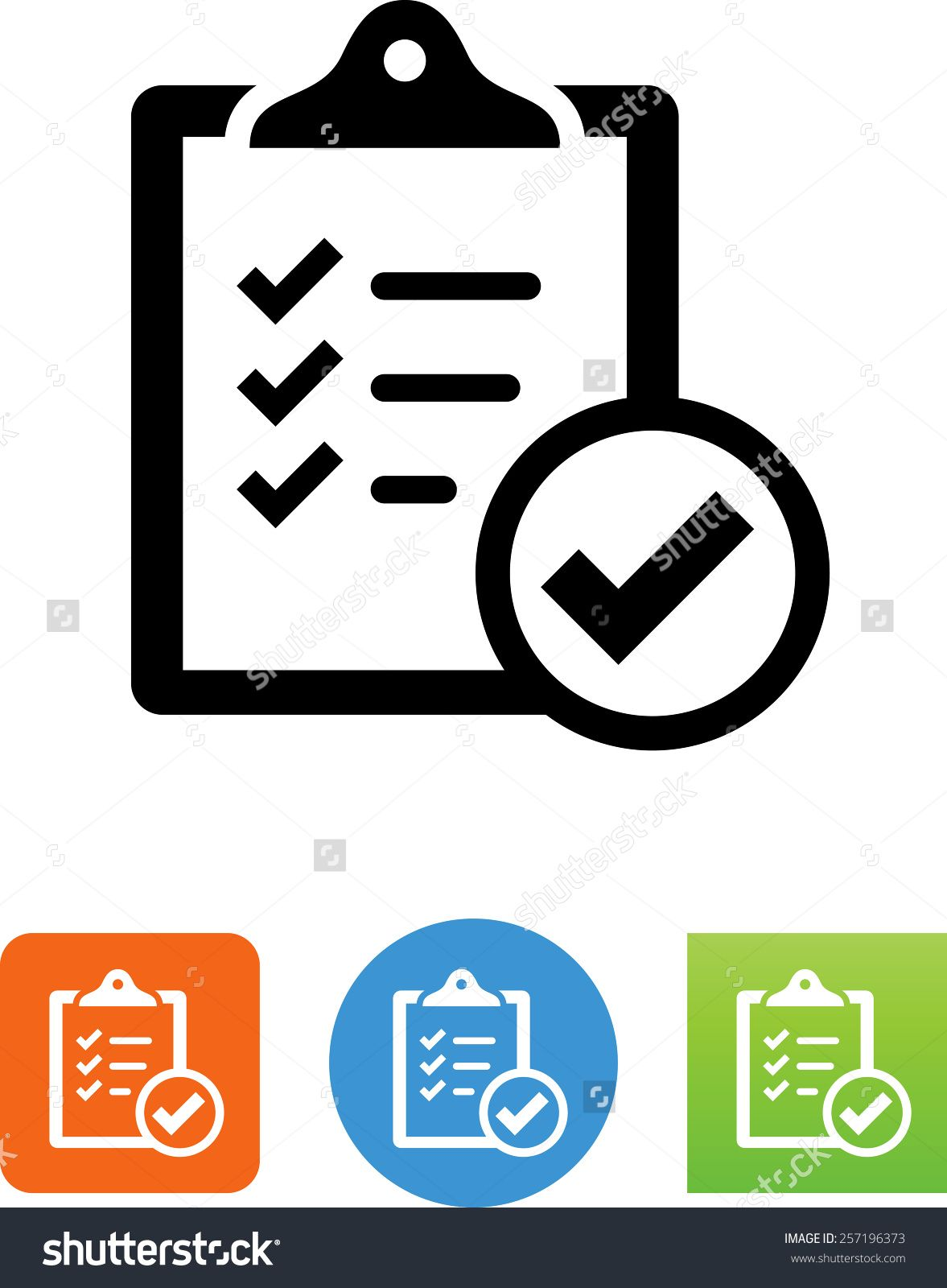 Clipboard with check mark symbol. Web design projects