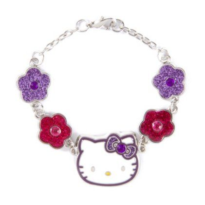 Hello Kitty Glitter Flowers Charm Bracelet by Claire's