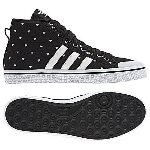 Women's Adidas Originals Honey Stripes Mid W Casual Shoes