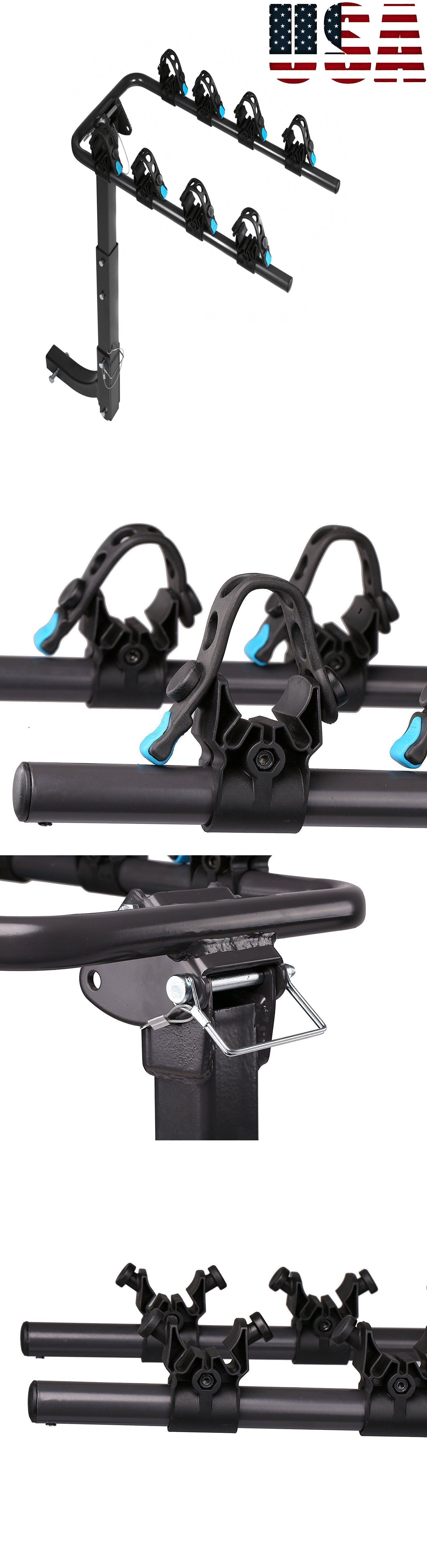 Car and Truck Racks 177849: 4 Bike Hitch Mount Rear Rack Car