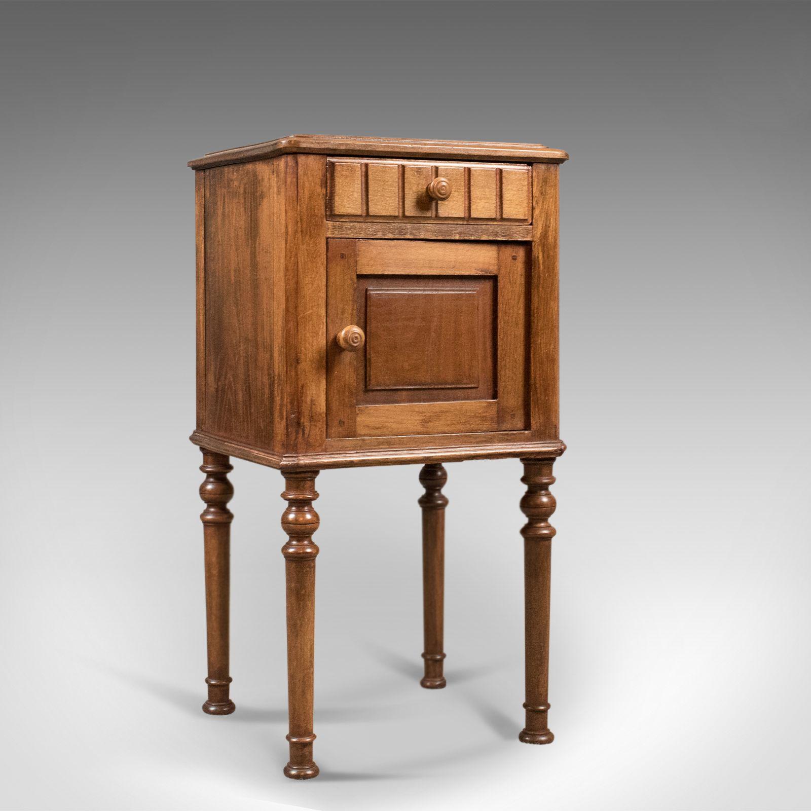 Antique Bedside Cabinet Victorian Pot Cupboard C 1900 Bedside